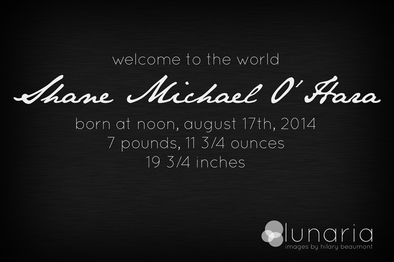Birth of Shane Michael